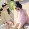 [Amberbear-3003现货] 14年童夏款韩国蕾丝短袖童t恤