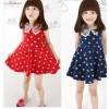 [Amber Bear-3008现货] 韩国品牌童装 娃娃领童裙爆款天鹅连衣裙
