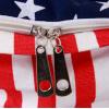 新款海军风双肩包背包男女初高中大学生书包条纹旅游休闲帆布包
